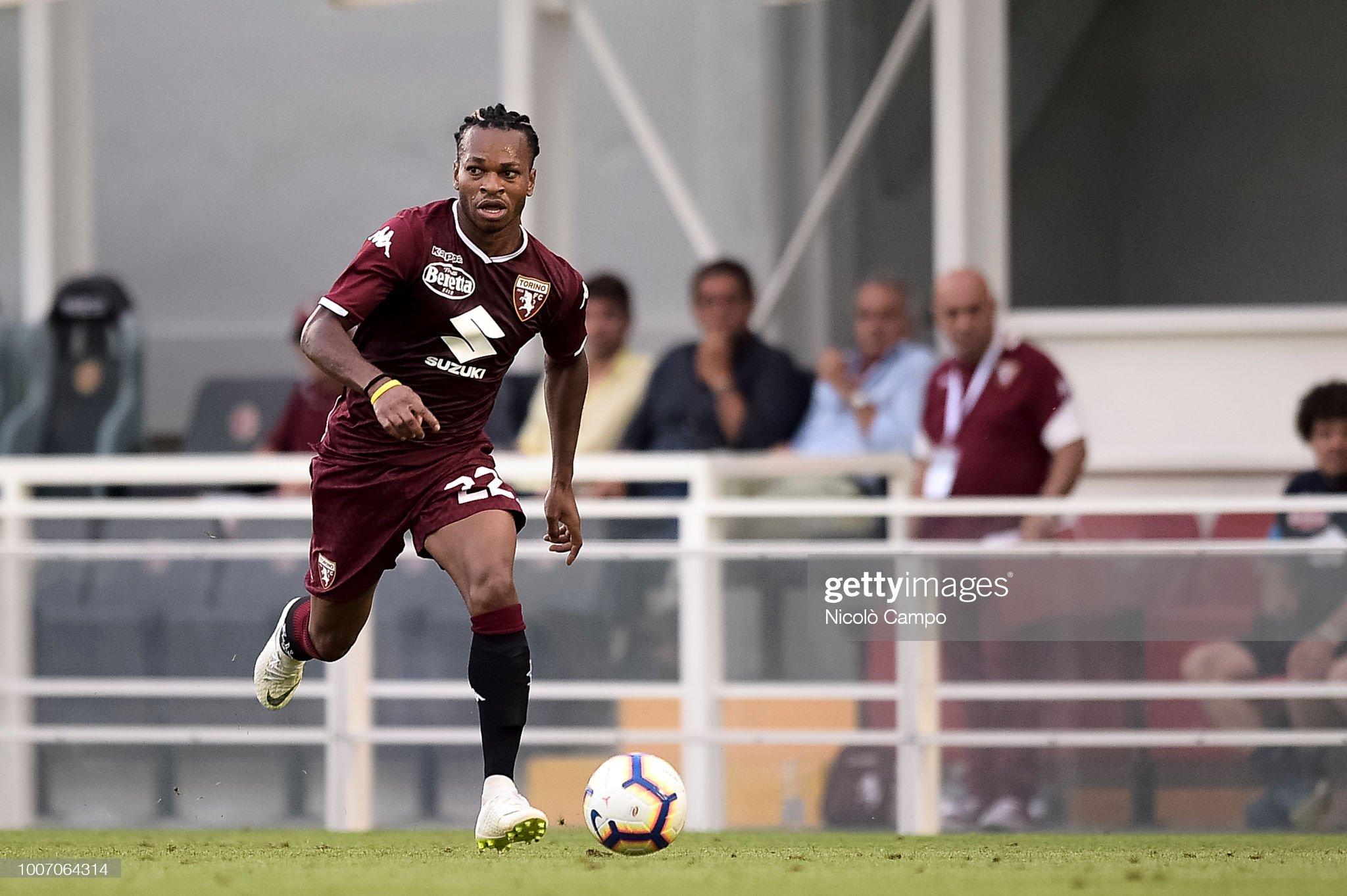 Joel Obi of Torino FC in action during the friendly football... : Foto di attualità