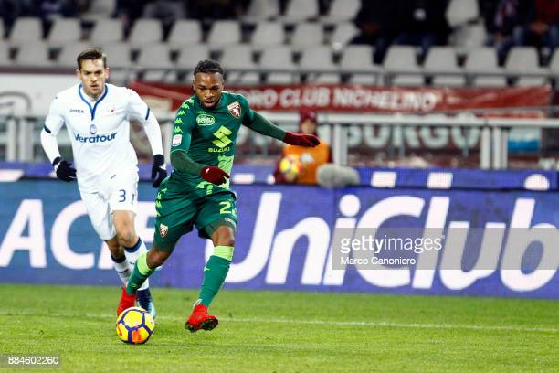 Joel Obi of Torino FC in action during the Serie A football match between Torino Fc and Atalanta Bergamasca Calcio Players of Torino Fc wear a...