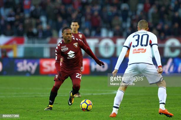 Joel Obi of Torino FC in action during the Serie A football match between Torino Fc and Genoa Cfc