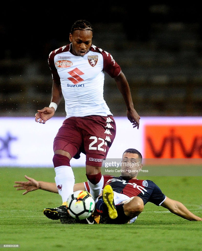 Joel Obi # 22 of Torino FC in action during the Serie A match between Bologna FC and Torino FC at Stadio Renato Dall'Ara on August 20, 2017 in Bologna, Italy.