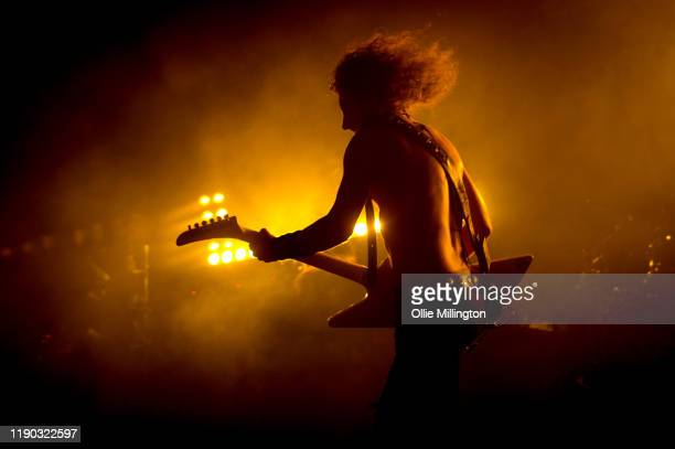 Joel OKeeffe of Airbourne performs onstage at o2 Forum Kentish Town on November 26 2019 in London England