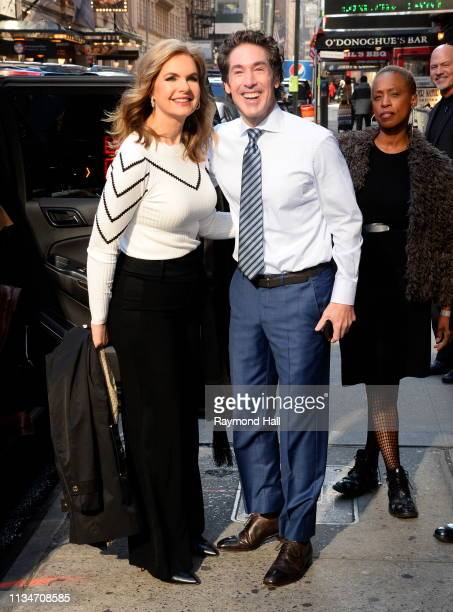 Joel Osteen and Victoria Osteen are seen outside good morning america on April 3 2019 in New York City