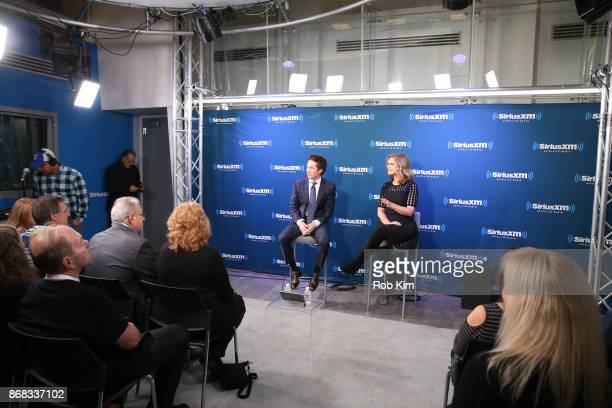 Joel Osteen and Victoria Osteen host a special edition of Sirius XM's Joel Osteen Live from Sirius XM Studios in New York City on Monday October 23...