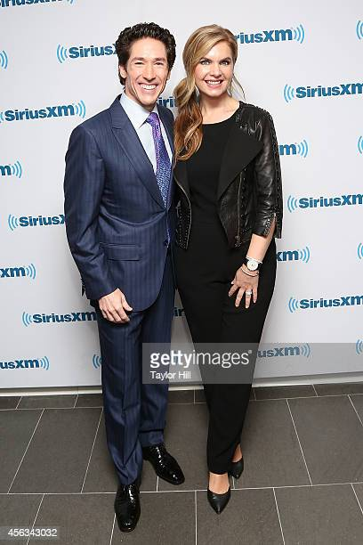 Joel Osteen and Victoria Osteen launch Joel Osteen Radio at SiriusXM Studios on September 29 2014 in New York City