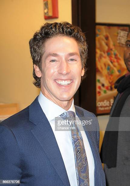 Joel Osteen is sighted at his new book Blessed In The Darkness signing at Barnes Noble 5th Avenue on October 25 2017 in New York City