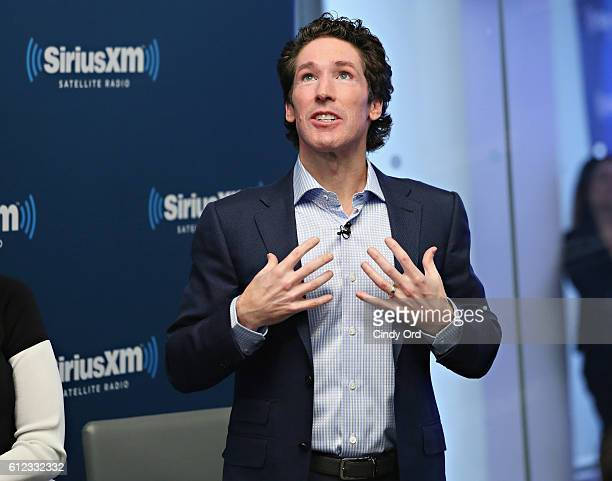 Joel Osteen participates in 'Joel Osteen Live' featuring Joel and Victoria Osteen with special guests Fr Ed Leahy A J Calloway and Matt and Laurie...