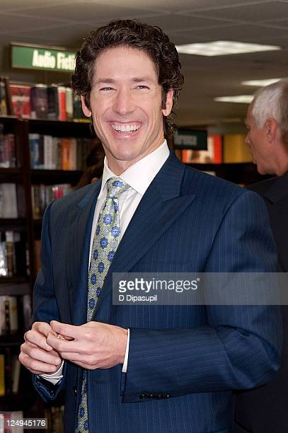 Joel Osteen promotes Every Day A Friday How To Be Happier 7 Days A Week at Barnes Noble 5th Avenue on September 14 2011 in New York City