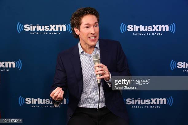 Joel Osteen speaks during the SiriusXM Studios for its Town Hall Series hosted by Kathie Lee Gifford on October 1 2018 in New York City