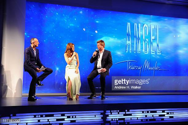 Joel Palix Eva Mendes and Richard Wilkins reveal Eva Mendes' new campaign for Angel by Thierry Mugler at IAC Building on June 23 2011 in New York City