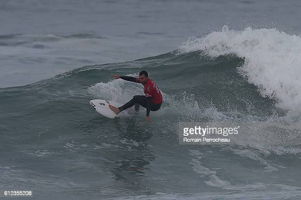 Joel Parkinson in action during the first round of the Quiksilver Pro of Surfing at plage des culs nus on October 4 2016 in Hossegor France