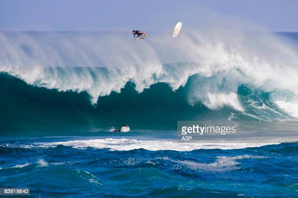 Joel Parkinson of Australia competes in the O'Neill World Cup of Surfing at Sunset Beach December 4 2008 in Oahu Hawaii