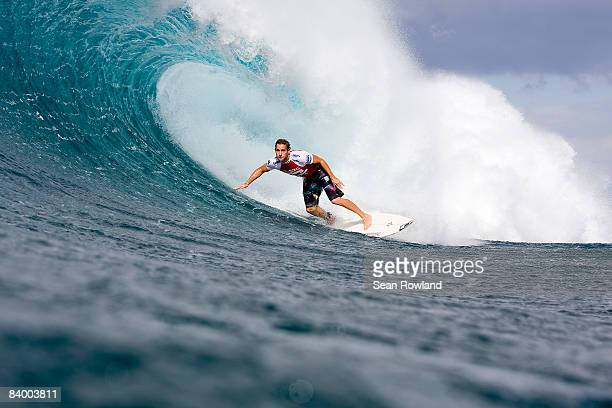 Joel Parkinson of Australia competes in the Vans Triple Crown Of Surfing event the Billabong Pipeline Masters at Banzai Pipeline on December 10 2008...
