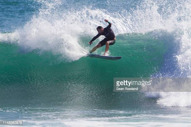 Joel Parkinson of Australia competing in the 2016 Hurley Pro at Trestles which he placed runner-up to Jordy Smith of South Africa in the final at...