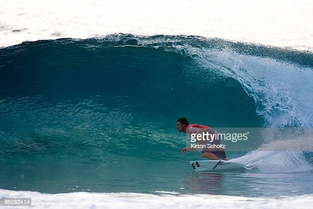 Joel Parkinson of Australia surfs to a round 2 victory during the Quiksilver Pro Gold Coast presented by LG Mobile on March 7, 2009 on the Gold...