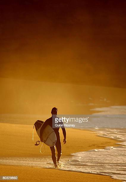 Joel Parkinson of Australia walks along the beach before the start of Round One of the Rip Curl Pro as part of the ASP World Tour held at Bells Beach...