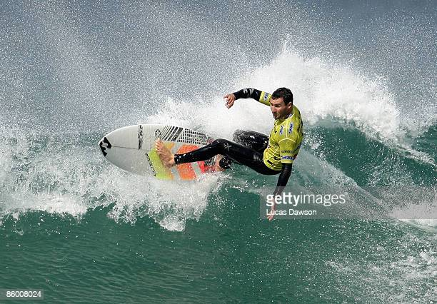 Joel Parkinson of Australia wins the Rip Curl Pro after defeating Adam Robertson of Australia in the Final on April 17 2009 in Bells Beach Australia