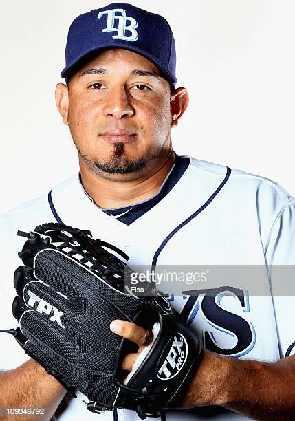 Joel Peralta of the Tampa Bay Rays poses for a portrait during the Tampa Bay Rays Photo Day on February 22 2011 at the Charlotte Sports Complex in...