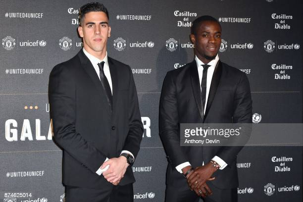 Joel Pereira and Eric Bailly attend the United for Unicef Gala Dinner at Old Trafford on November 15 2017 in Manchester England