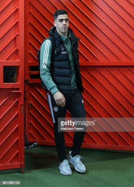 Joel Pereira of Manchester United arrives ahead of the Emirates FA Cup Third Round match between Manchester United and Derby County at Old Trafford...