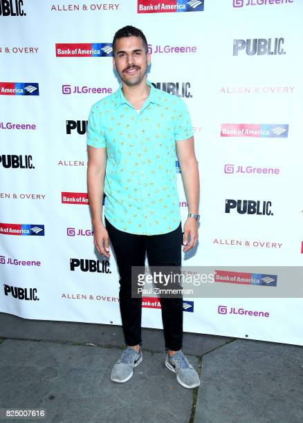 Joel Perez attends 'A Midsummer Night's Dream' Opening Night at Delacorte Theater on July 31 2017 in New York City