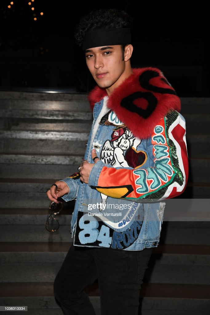 Joel Pimentel attends the Dolce & Gabbana show during Milan