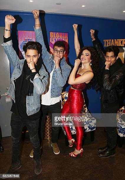 Joel Pimentel Zabdiel de Jesus and Erick Brian Colon of the new Latin Boy Band 'CNCO' winners from the TV competition 'La Banda' vist Ana Villafane...