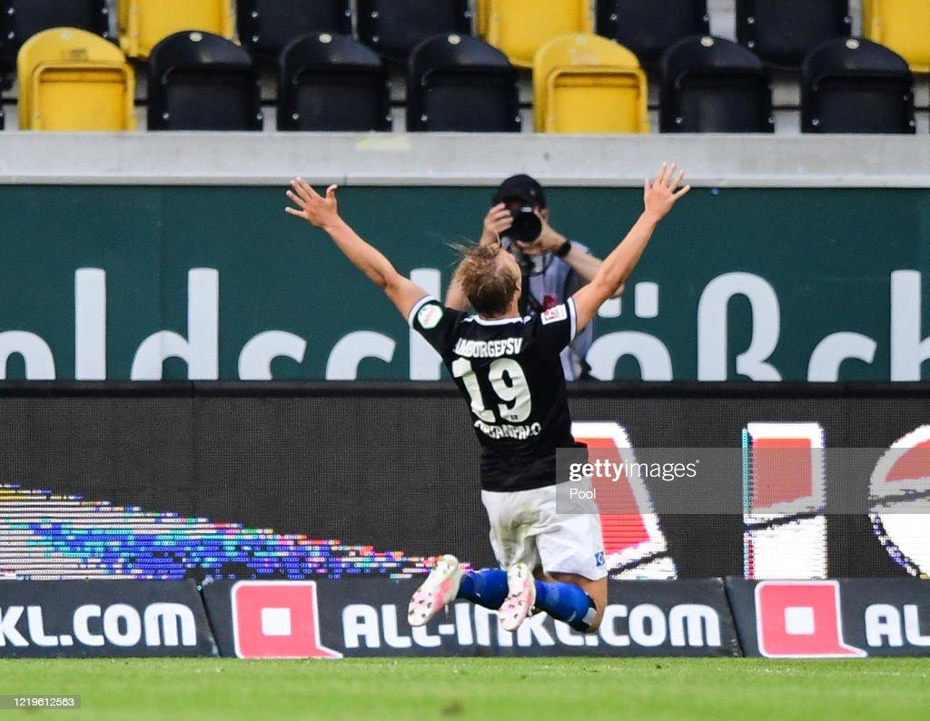 SG Dynamo Dresden v Hamburger SV - Second Bundesliga : News Photo