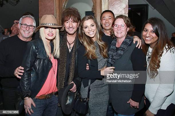 Joel Roman Orianthi Richie Sambora Christina Perri Ray Yee Alison Smith and Reema Iqbal attend the BMI Zoom Dinner at Main And Sky Rooftop Lounge...