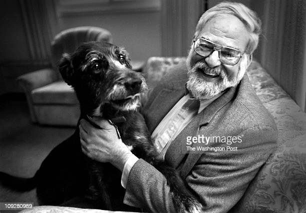 10/20/97 Joel S Sugarman at his home in Silver Spring with his dog Sugarman's father died of colon cancer in 1985 He undergoes regular colonoscopy to...