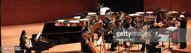 Joel Sachs leading the New Juilliard Ensemble at Alice Tully Hall on Friday night April 12 2013This imageJoel Sachs leading the New Juilliard...