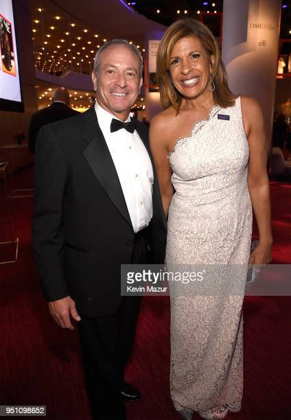 Joel Schiffman and Hoda Kotb attend the 2018 Time 100 Gala at Jazz at Lincoln Center on April 24 2018 in New York CityÊ