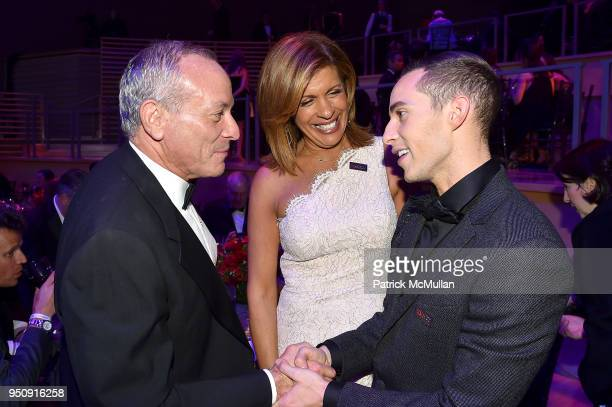 Joel Schiffman Hoda Kotb and Adam Rippon attend the 2018 TIME 100 Gala at Jazz at Lincoln Center on April 24 2018 in New York City