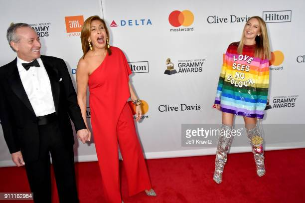Joel Schiffman Hoda Kotb and Dee Ocleppo Hilfiger attend the Clive Davis and Recording Academy PreGRAMMY Gala and GRAMMY Salute to Industry Icons...