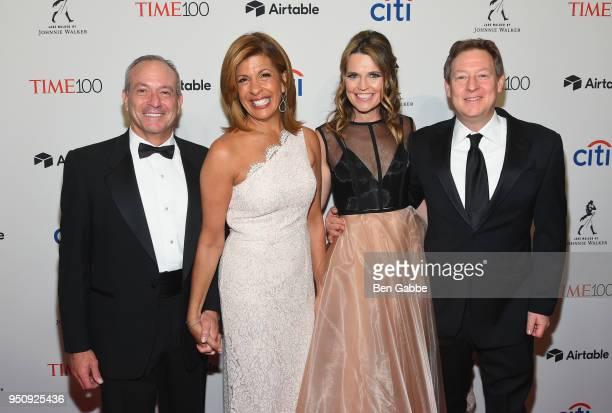 Joel Schiffman Hoda Kotb Savannah Guthrie and Michael Feldman attend the 2018 Time 100 Gala at Jazz at Lincoln Center on April 24 2018 in New York...