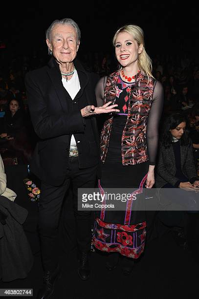 Joel Schumacher and Kate Nash attend the Anna Sui fashion show during MercedesBenz Fashion Week Fall 2015 at The Theatre at Lincoln Center on...