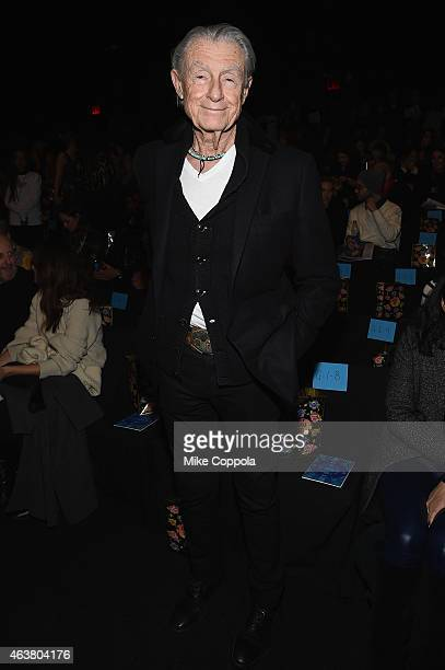 Joel Schumacher attends the Anna Sui fashion show during MercedesBenz Fashion Week Fall 2015 at The Theatre at Lincoln Center on February 18 2015 in...