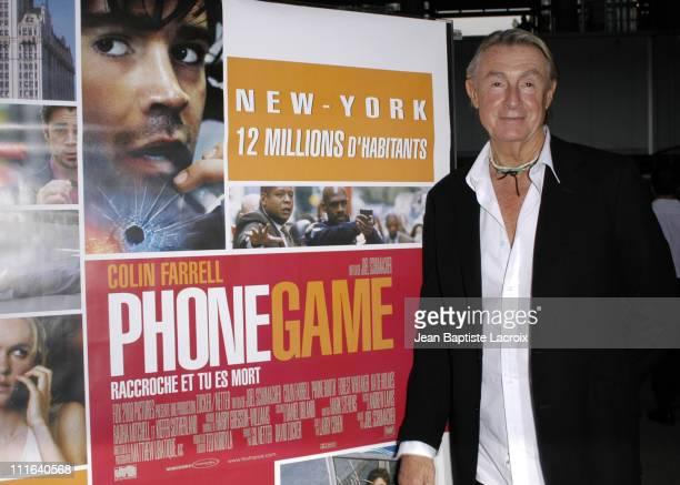Joel Schumacher Director during Phone Booth Premiere Paris at UGC Bercy in Paris France