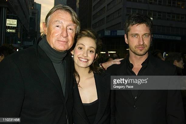 Joel Schumacher director of the film Emmy Rossum and Gerard Butler
