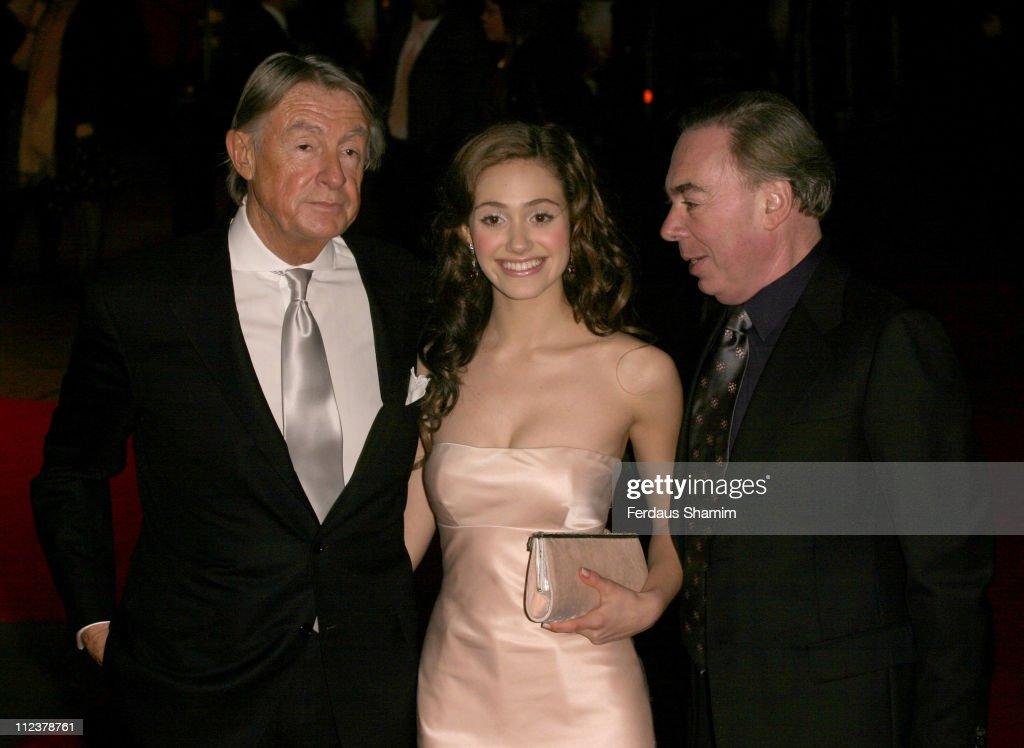 Joel Schumacher, Emmy Rossum wearing Ralph Lauren, Andrew Lloyd Webber