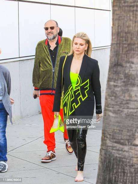 Joel Silver and Karyn Fields are seen on April 22 2019 in Los Angeles California