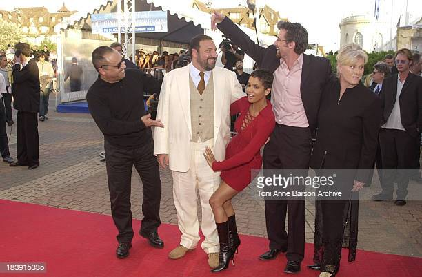 Joel Silver Halle Berry Hugh Jackman during Deauville 2001 The Swordfish Premiere at Centre International Deauville CID in Deauville France
