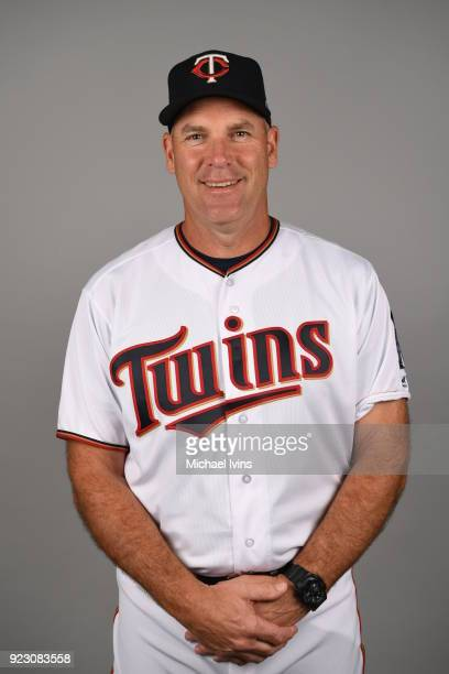 Joel Skinner of the Minnesota Twins poses during Photo Day on Wednesday February 21 2018 at CenturyLink Sports Complex in Fort Myers Florida