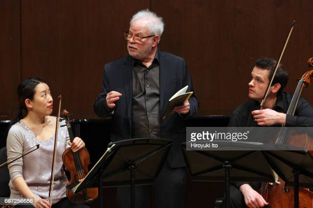 Joel Smirnoff Master Class at the Juilliard School's Paul Hall on Monday afternoon March 27 2017 This image From left Dorothy Ro Joel Smirnoff and...