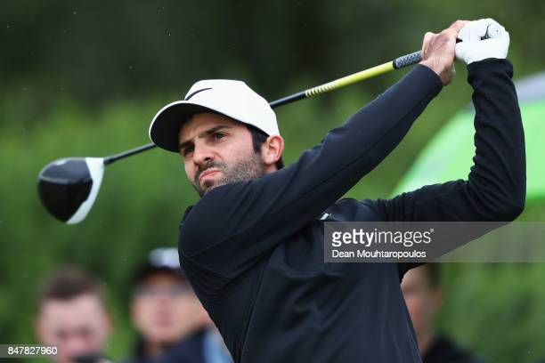 Joel Stalter of France hits his tee shot on the 3rd hole during day 3 of the European Tour KLM Open held at The Dutch on September 16 2017 in Spijk...
