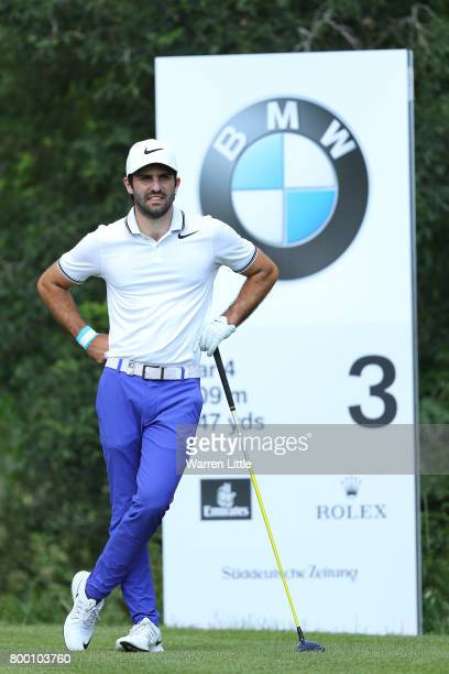 Joel Stalter of France looks down the 3rd hole during day two of the BMW International Open at Golfclub Munchen Eichenried on June 23 2017 in Munich...