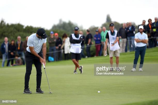Joel Stalter of France putts on the 4th hole during Day Four of the KLM Open at The Dutch on September 17 2017 in Spijk Netherlands