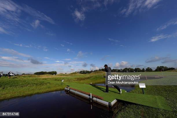 Joel Stalter of France walks on the 11th hole during day two of the KLM Open at The Dutch on September 15 2017 in Spijk Netherlands