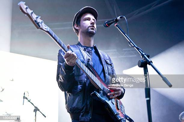Joel Stocker of The Rifles performs on stage during the first day of YNot Festival 2011 on August 5 2011 in Matlock United Kingdom