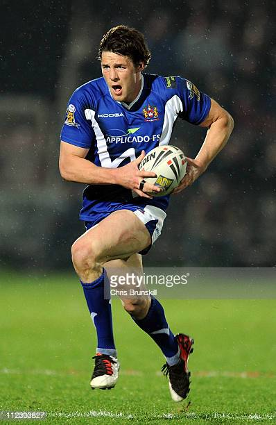 Joel Tomkins of WIgan Warriors in action during the Engage Super League match between Hull Kingston Rovers and Wigan Warriors at Craven Park on April...