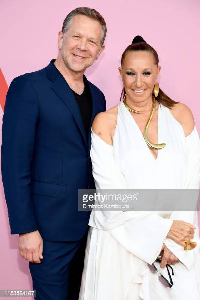 Joel Towers and Donna Karan attend the CFDA Fashion Awards at the Brooklyn Museum of Art on June 03 2019 in New York City